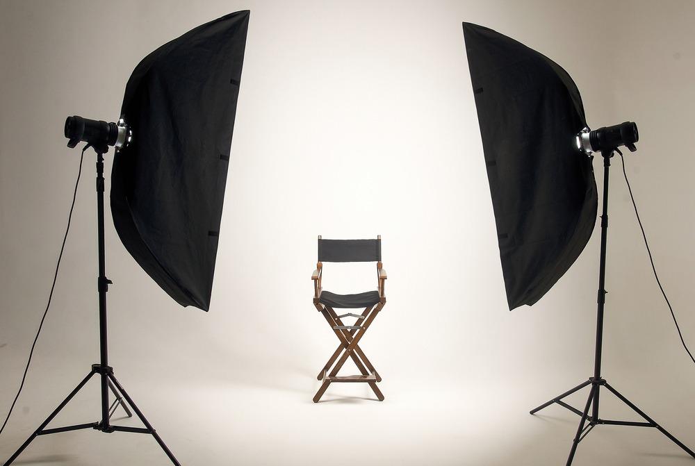 Sedia e stativi per casting